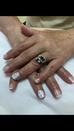 Jessica gel French polish & marble effect