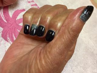 Gorgeous Jessica gel nails! Blue Azure & silver ombré