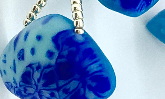 Big Blue Triangle Bracelet