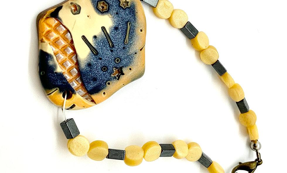 Honey Slate bracelet