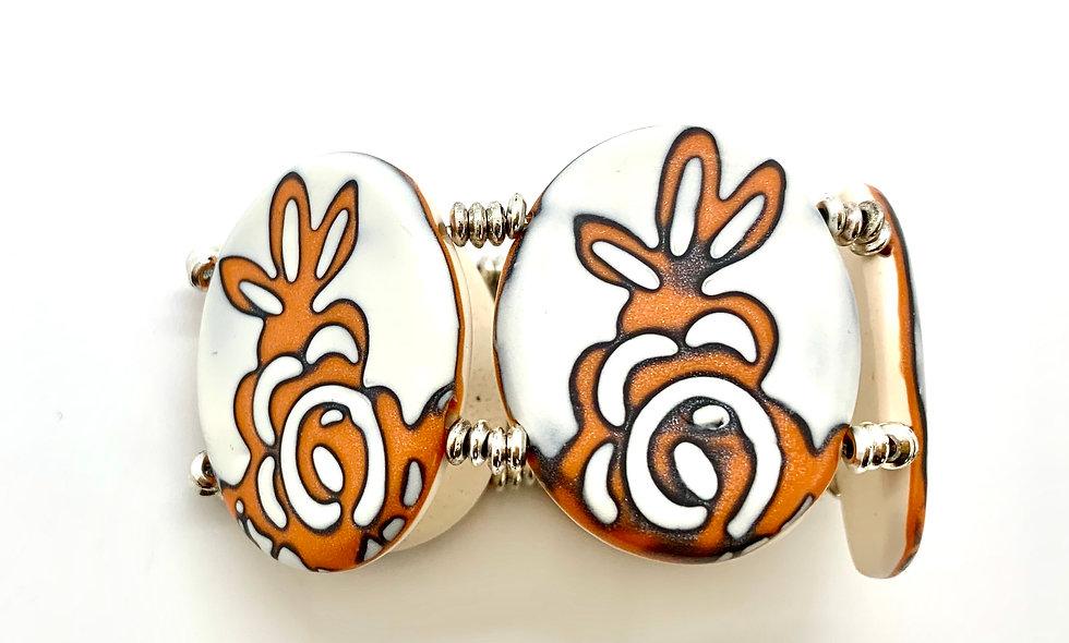 Orange MG flower- big bracelet
