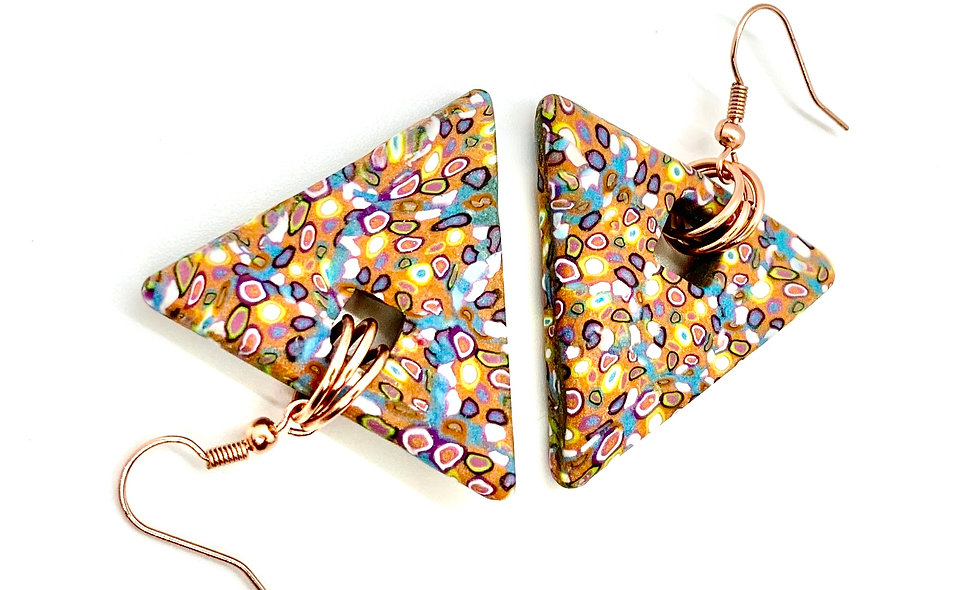 Triangle cells Earrings