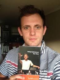 Philip Rademeyer receives his copy of Th