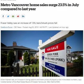 大温房市回暖了?! 7月报告出炉: 销量飙升23.5% 但这个数字不可忽视