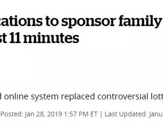 崩溃 ¦ 10分钟内2.7万个父母团聚名额被抢光!特鲁多政府再遭质疑!