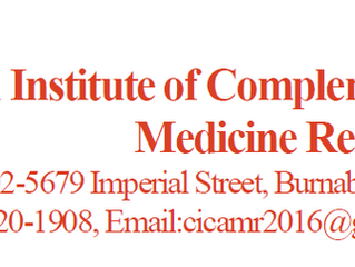 The First Annual International Conference of Traditional Medicines on Health and Wellness