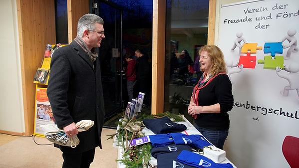 Verein der Freunde und Förderer der Wollenbergschule e.V.  Christiane Dietzel Dr. Franz Foto: Sabine Matzen