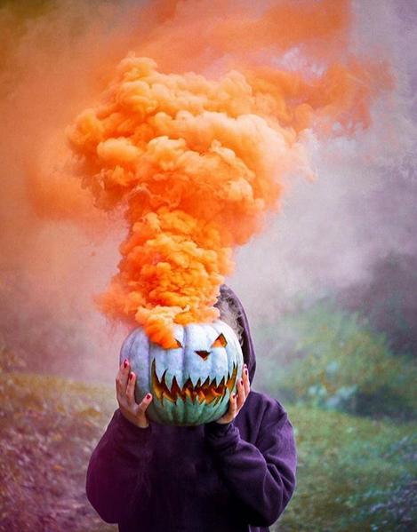 Smoke Bomb Pumpkins