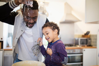 Father and Son Baking