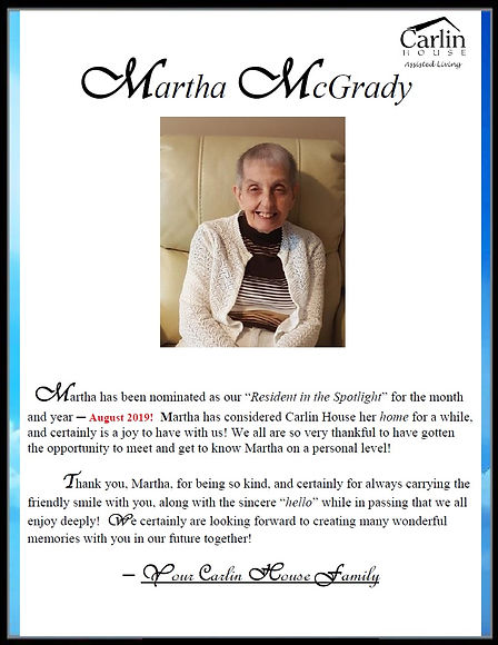 MARTHA MCGRADY_AUGUST 2019 Resident in t