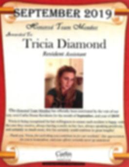 SEPTEMBER 2019 Tricia Diamond _ HTM DISP