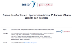 Casos desafiantes en Hipertensión Arterial Pulmonar: Charla Debate con expertos
