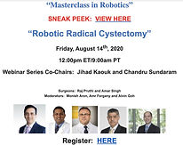 Masterclass in Robotics - Robotic Radical Cystectomy