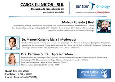 Casos Clínicos - Sul: Discussão de casos clínicos em carcinoma urotelial