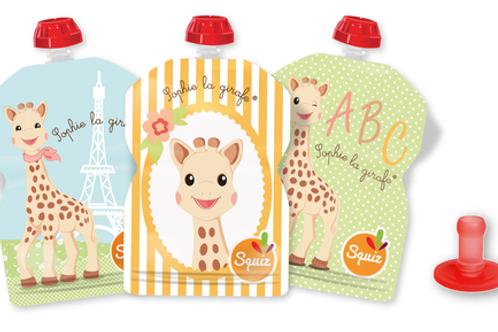 Gourde Squiz Pack Sophie la giraffe + 1 embout