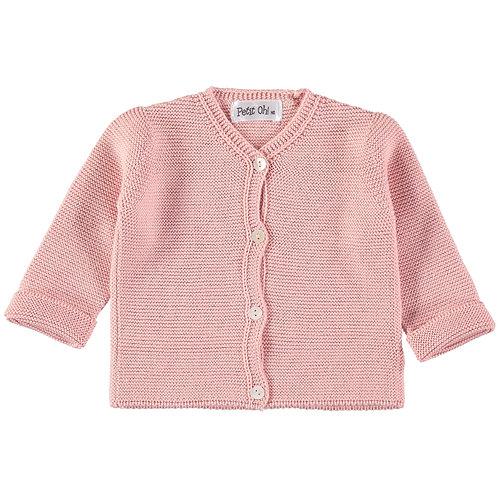 Petit Oh! Gilet en coton rose