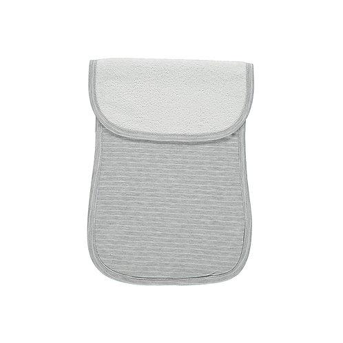 Bavoir d'épaule gris et blanc