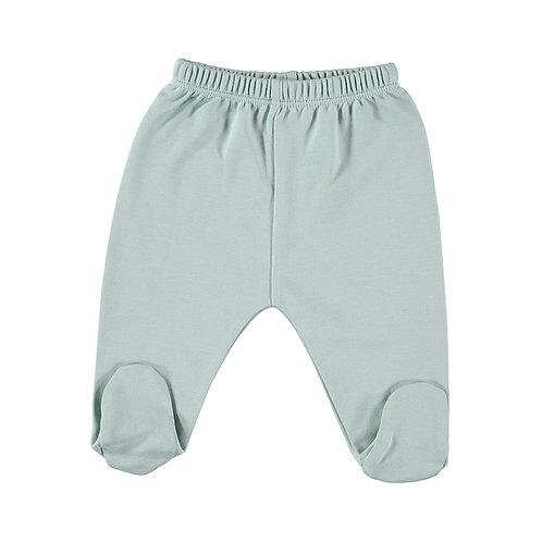 Petit Oh! Pantalon à pieds aqua