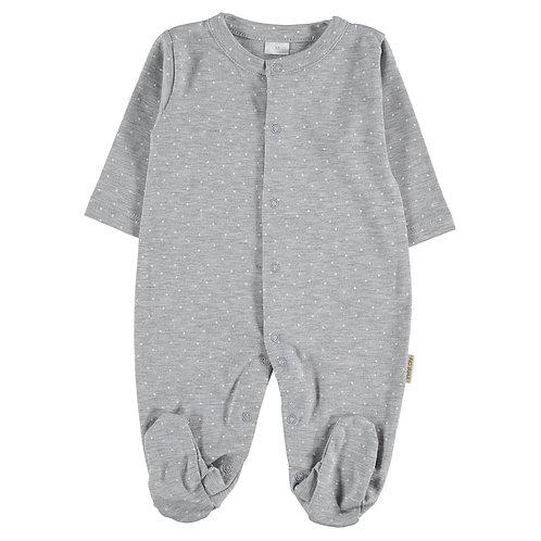 Petit Oh! Pyjama gris à petits points