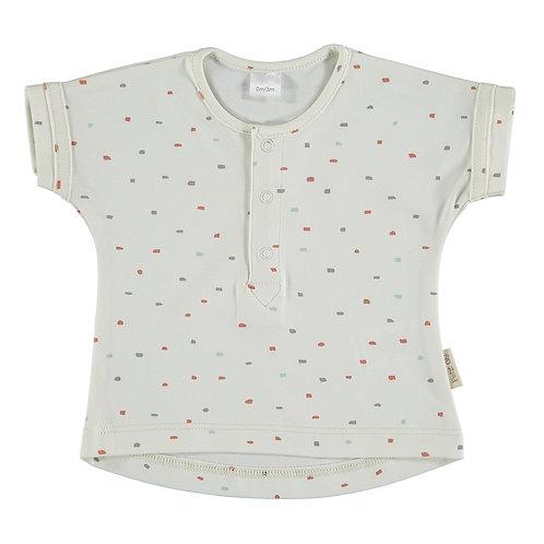 """Petit Oh! T-Shirt """"John"""" confettis gris, brique, aqua"""