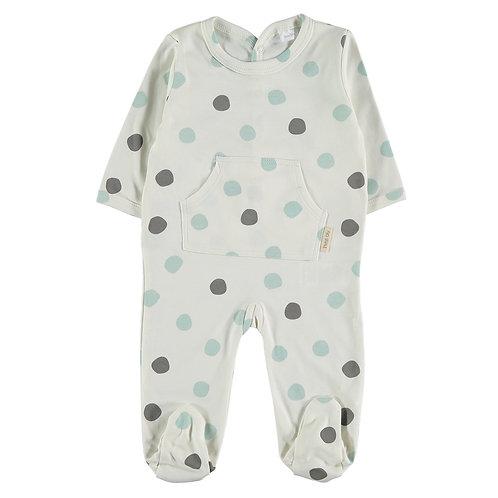 Petit Oh! Pyjama à pois aqua