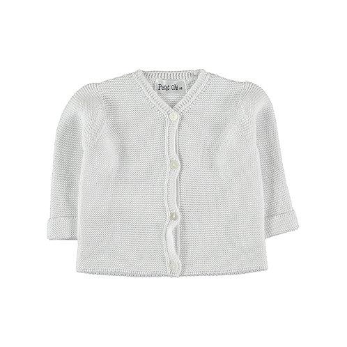 Petit Oh! Gilet en coton blanc