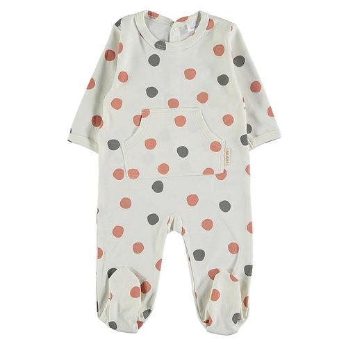 Petit Oh! Pyjama à pois brique