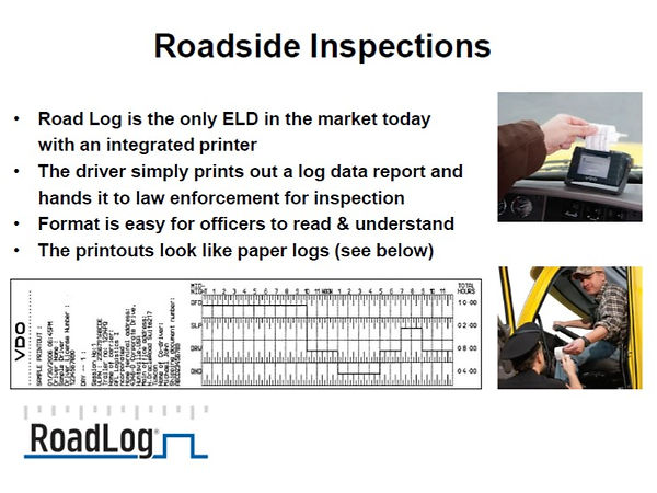 Roadlog ELD ispection
