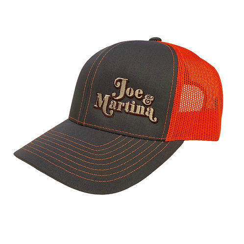 Gray/Orange Logo Snapback