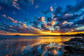 Sunset from Black Head, Gerroa..