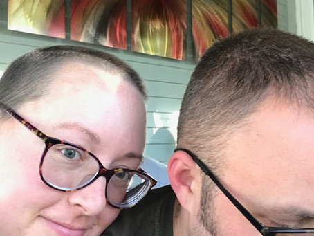 That moment when you realize, you and your husband have the same hair style...
