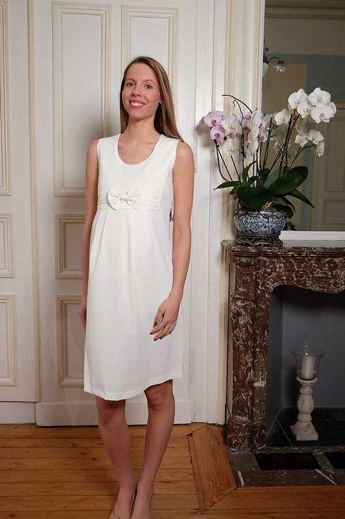 58-Robe habillée blanche Nelly Clary