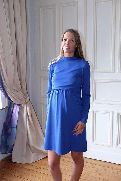 226-Robe allaitement bleue Esprit