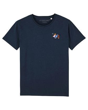 Tee shirt Création Bleu-marine