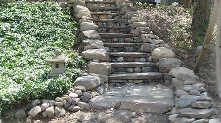 Wedding Steps J. Mitchell Gardens & Stone