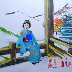 Pause d'une geisha - 2015