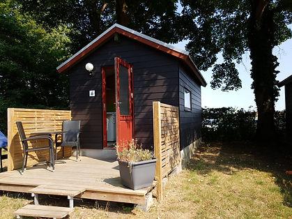 Hytte med egen terrasse