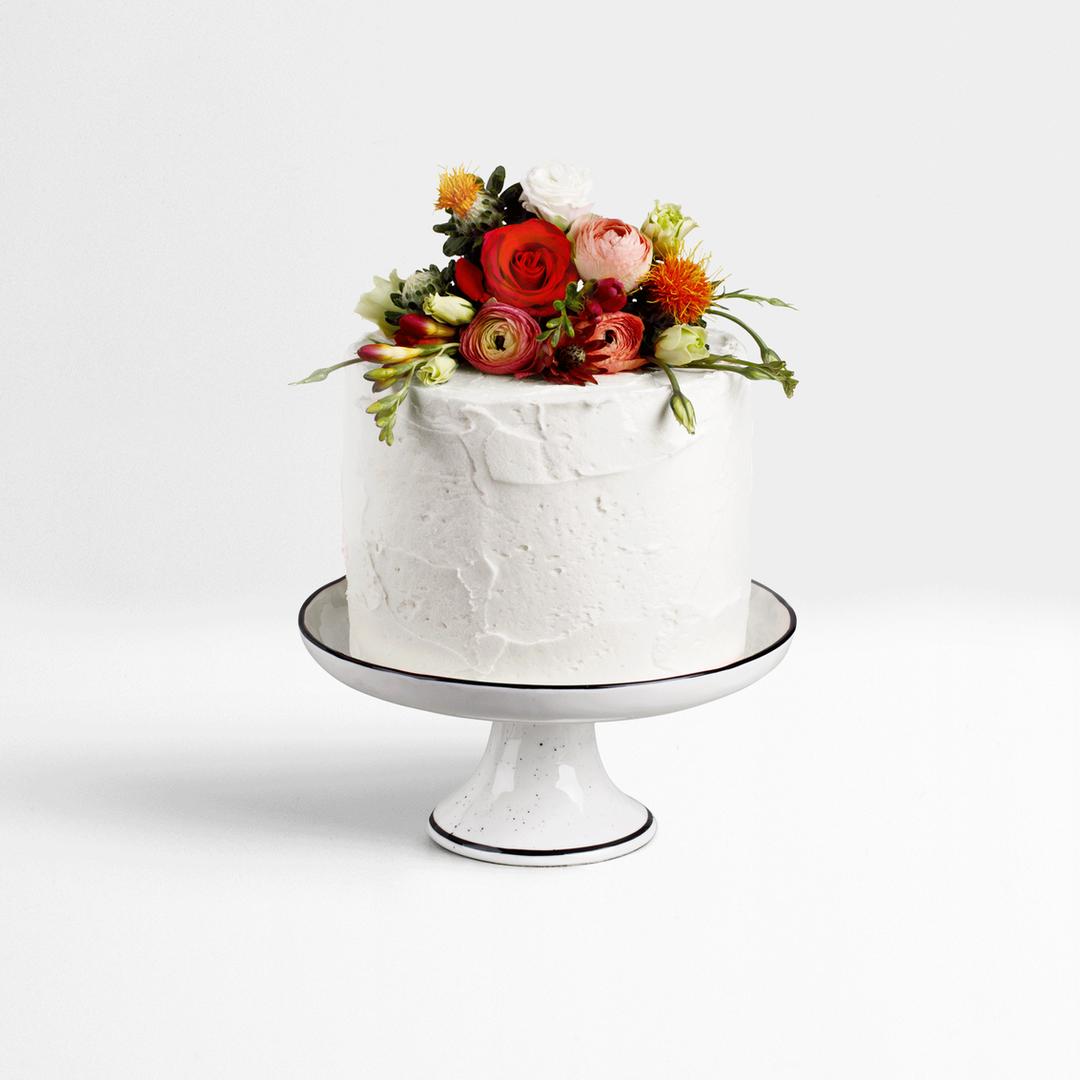 Pastel de boda blanco