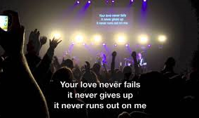 Love never gives up!