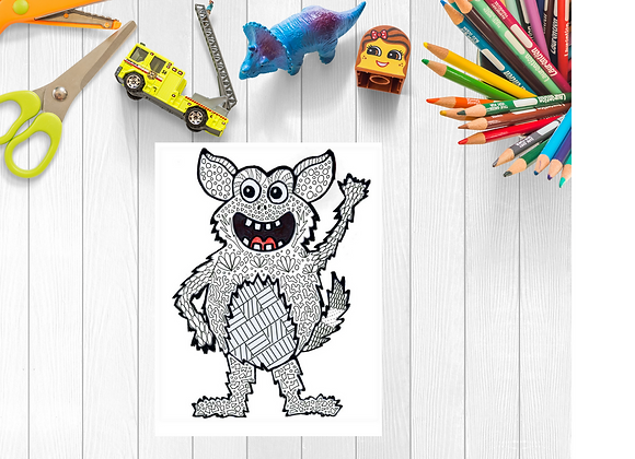 Mindful Colouring - Menace the Mindful Monster