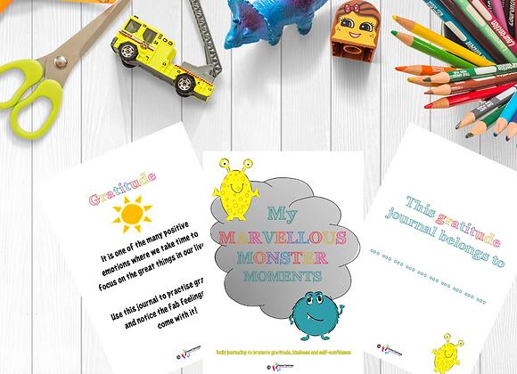 Gratitude Journal for Kids - Marvellous Monster Moments