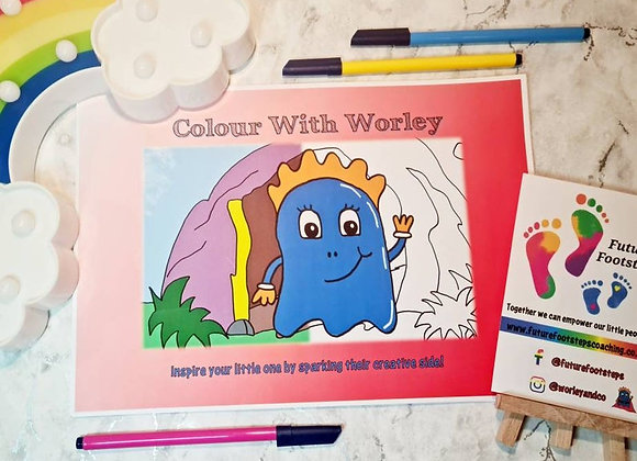 Colour with Worley - Children's Colouring Book