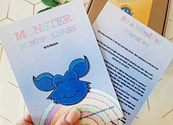 Mindfulness Cards with Menace the Monster