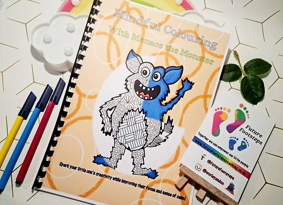 Mindful Colouring with Menace