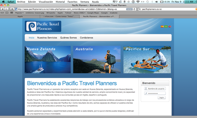 Pacific travel planners
