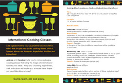 Flyer International cooking classes