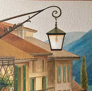 Detail of Lake Como mural