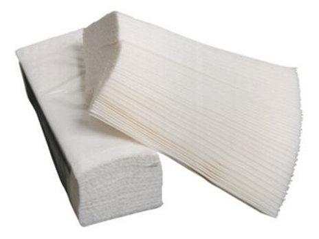 Essuie mains blanc plié double épaisseur 22 x 34 cm