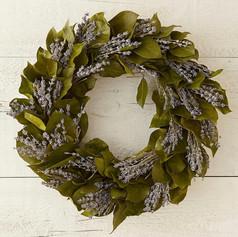 Lavender and Lemon Leaf Wreath