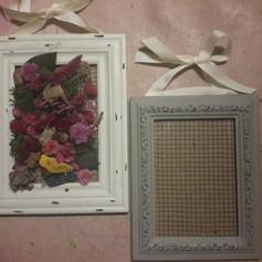 Dried Flowers in Vintage Frame